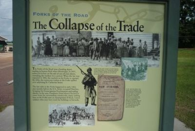 Forks of the Road Historical Site Marker, Panel 3 image. Click for full size.
