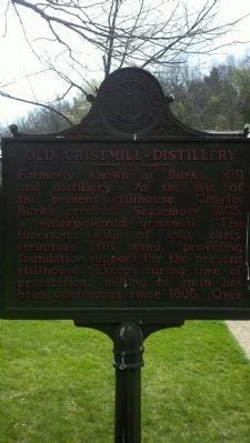 Old Gristmill-Distillery Marker image. Click for full size.
