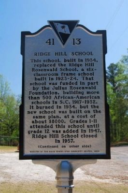 Ridge Hill School Marker image. Click for full size.