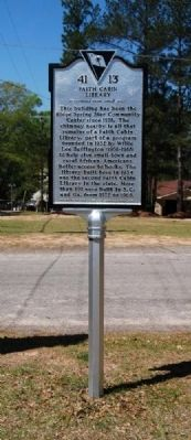 Faith Cabin Library Marker image. Click for full size.