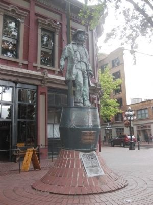 Gassy Jack Statue with the Gassy Jack and The Old Maple markers image. Click for full size.