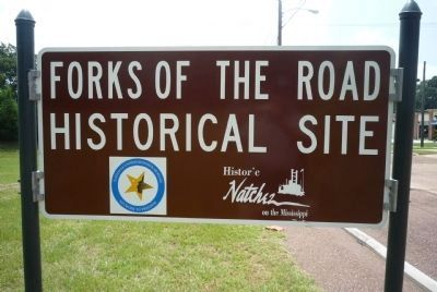 Forks of the Road Historical Site image. Click for full size.