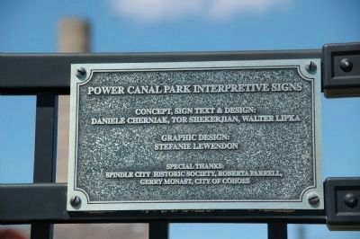 Power Canal Park Interpretive Signs Plaque image. Click for full size.