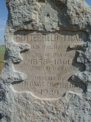 Butterfield Mail and Stage Line Marker image. Click for full size.
