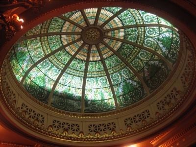 The Pennsylvania State Capitol, skylight in Supreme Court Chamber image. Click for full size.