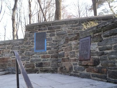Markers in Fort Tryon Park image. Click for full size.