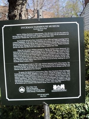 Dyckman Farmhouse Museum Marker image. Click for full size.