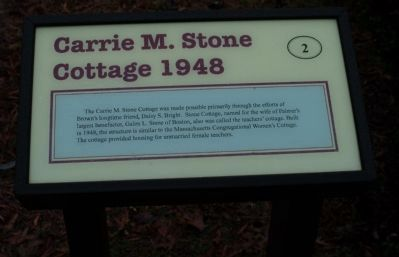 Carrie M. Stone Cottage 1948 Marker image. Click for full size.