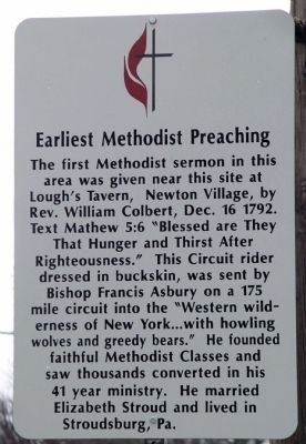 Earliest Methodist Preaching Marker image. Click for full size.