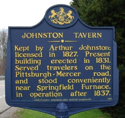 Johnston Tavern Marker image. Click for full size.
