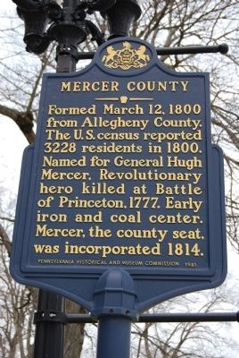 Mercer County Marker image. Click for full size.