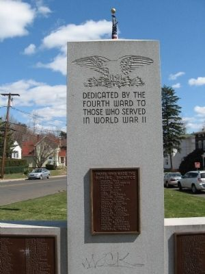 Fourth Ward WWII Veterans Monument image. Click for full size.