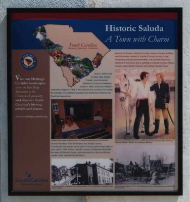 Historic Saluda Marker image. Click for full size.