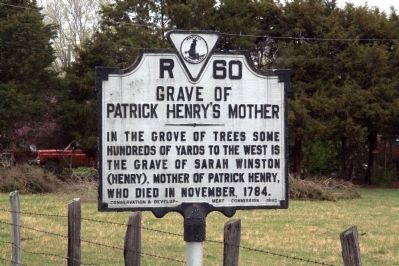 Grave of Patrick Henry's Mother Marker image. Click for full size.
