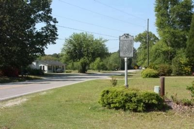 Hendersonville Marker, looking north along US 17A image. Click for full size.