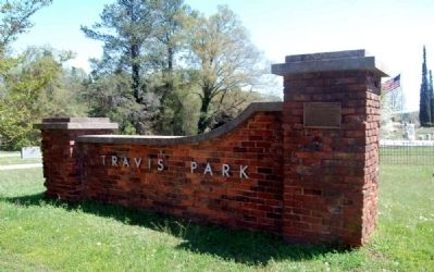 Mr. Philemon B. Waters Marker -<br>Northeast Brick Entrance to Travis Park image. Click for full size.