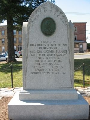 Brig. Gen. Casimir Pulaski Monument image. Click for full size.