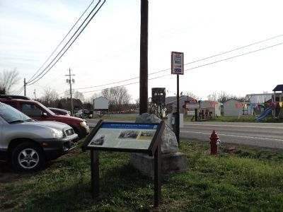 Marker on Williamsport Pike image. Click for full size.
