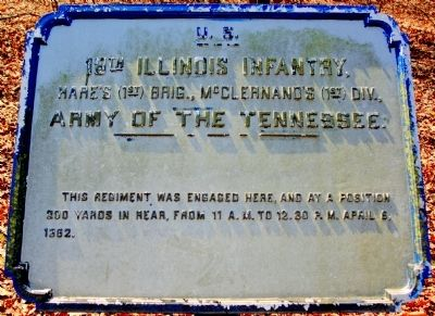 18th Illinois Infantry Marker image. Click for full size.