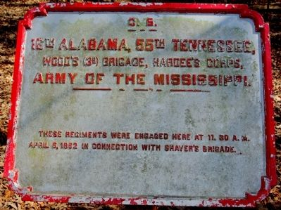 16th Alabama, 55th Tennessee Marker image. Click for full size.