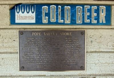 Pope Valley Store Marker image. Click for full size.
