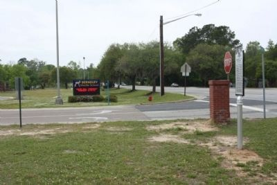 Berkeley Training High School Marker, looking south along North Live Oak Drive (US 17) image. Click for full size.