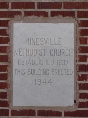 Hinesville Methodist Church Marker image. Click for full size.