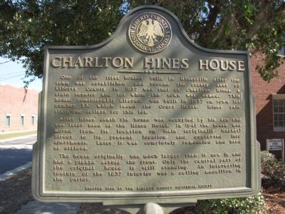 Charlton Hines House Marker image. Click for full size.
