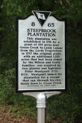 Steepbrook Plantation Marker image. Click for full size.
