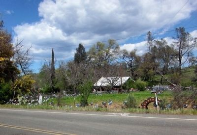 Litto's Hubcap Ranch - view from the south of the driveway image. Click for full size.