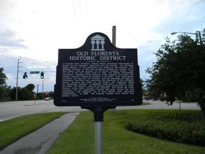 Old Floresta Historic District Marker image. Click for full size.