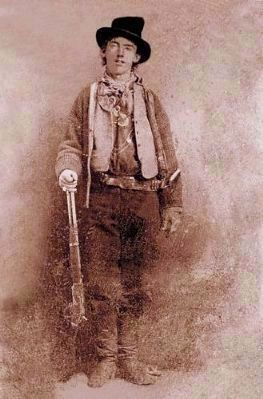 "William Henry McCarty, Jr. ""Billy the Kid""<br>a.k.a. William H. Bonney (1859&#8211;1881) image. Click for full size."