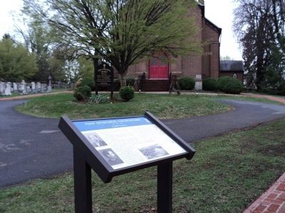 Marker in Zion Episcopal Churchyard image. Click for full size.