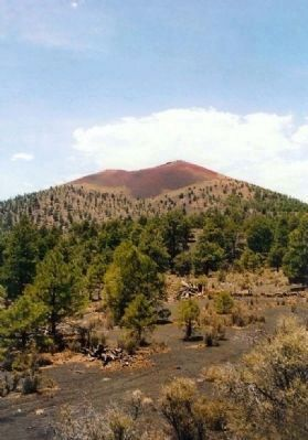 Sunset Crater cinder cone image. Click for full size.