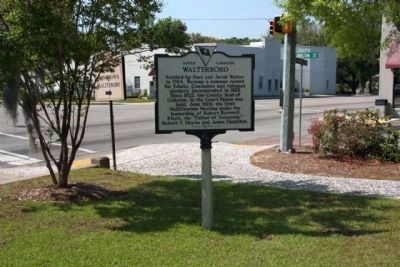 Walterboro Marker at the corner of Jefferies Blvd. and Washington Street image. Click for full size.
