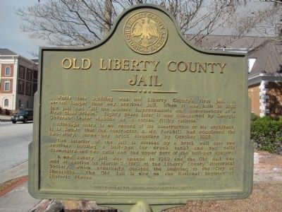Old Liberty County Jail Marker image. Click for full size.