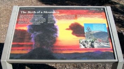 The Birth of a Mountain Marker image. Click for full size.
