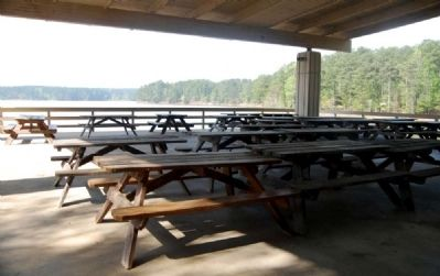 Hester Pavilion Covered Eating Area -<br>Overlooking Lake Strom Thurmond image. Click for full size.
