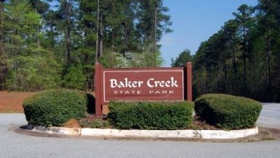 Baker Creek State Park Sign image. Click for full size.