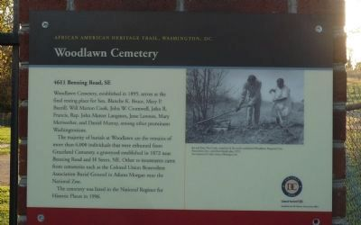 Woodlawn Cemetery Marker image. Click for full size.