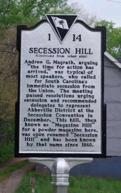 Secession Hill Marker image. Click for full size.