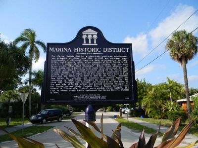 Marina Historic District Marker image. Click for full size.
