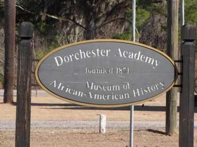 Dorchester Academy sign image. Click for full size.