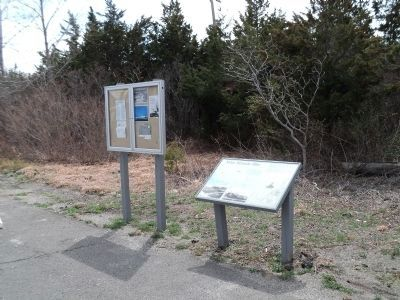 Marker on Sandy Hook image. Click for full size.