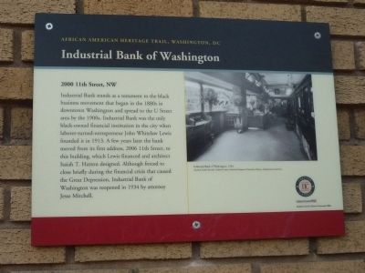 Industrial Bank of Washington Marker image. Click for full size.