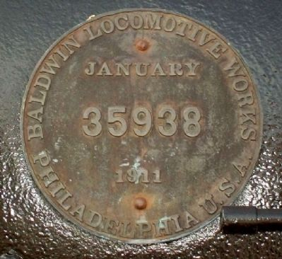 Two Spots Steam Engine Builder's Plate image. Click for full size.