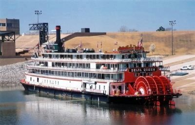The Delta Queen docked at Mud Island, Memphis, Tennessee image. Click for full size.