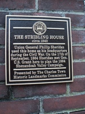The Stribling House Marker image. Click for full size.