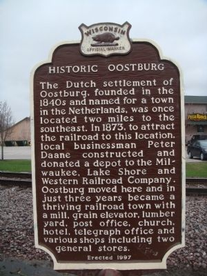 Historic Oostburg Marker image. Click for full size.