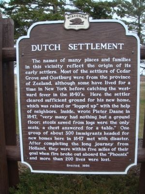 Dutch Settlement Marker image. Click for full size.